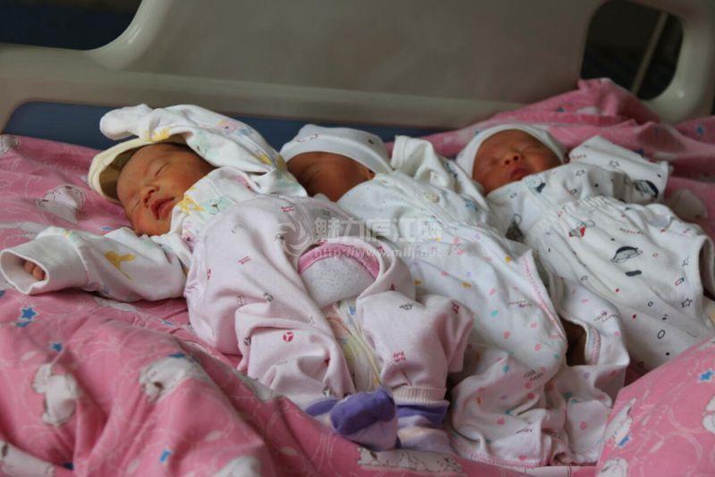 庐江县医院东区一产妇顺利诞下三胞胎(巡视到114楼)